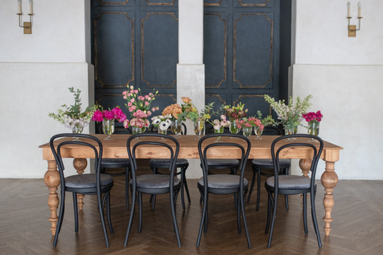 Woodland Tables + Black Bentwood Chairs