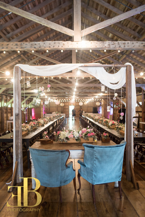 Sweetheart Table, King and Queen Chairs New Orleans Barn Wedding