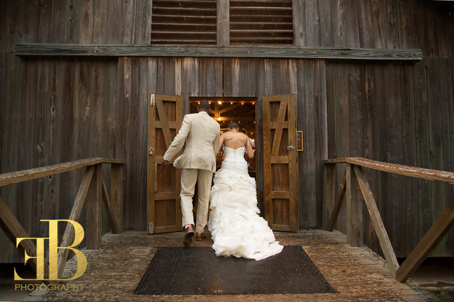 Margaree and Cleveland Barn Wedding Entrance New Orleans