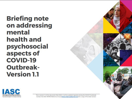 Briefing note on addressing mental health and psychosocial aspects of COVID19 Outbreak