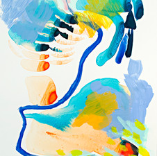 "Wet, Acrylic on Yupo paper, 10"" x 8"", 2018"