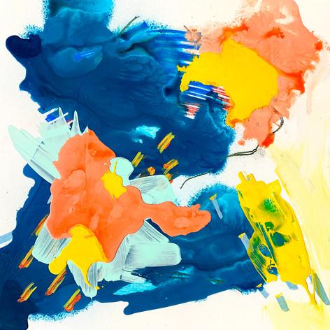 """Coalesce, Acrylic on cradled panel 24"""" x 24"""", 2018"""