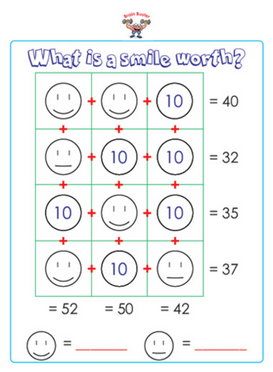 First Grade Math Sample Page