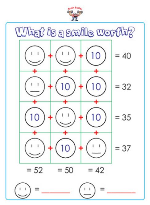 First Grade Math Sample Page