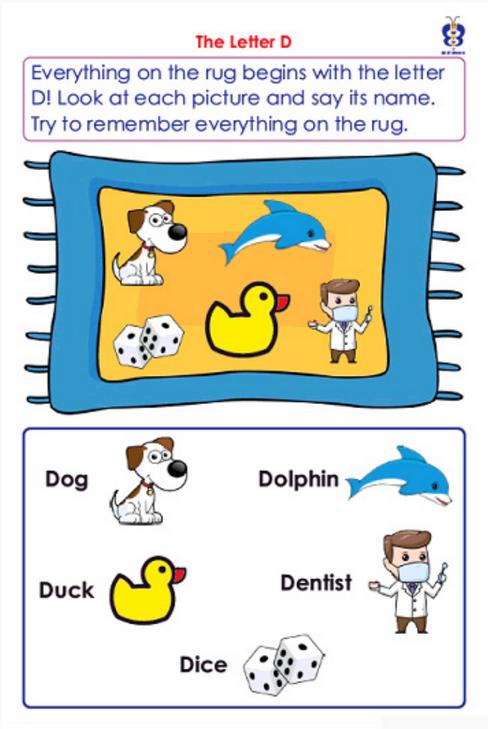 Preschool Sample Page