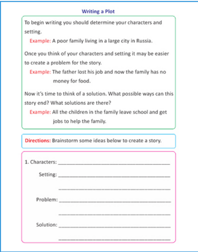 Fourth Grade Sample Page