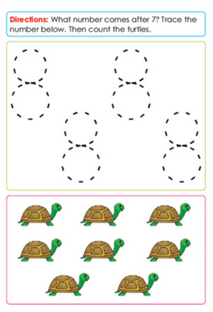 Preschool Math Sample Page
