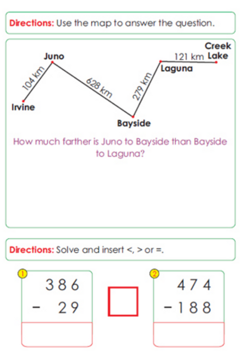 Second Grade Math Sample Page