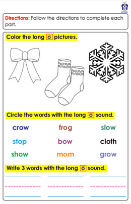 First Grade Sample Page