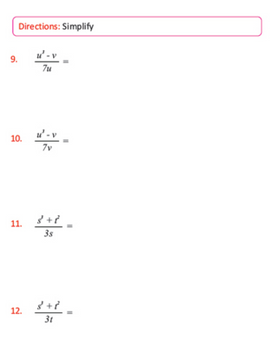 Seventh Grade Math Sample Page
