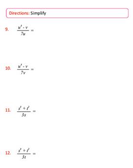 Seventh Grade Math Sample Page
