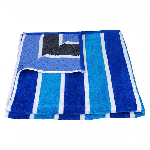 Blue Stripe 100% Recycled Beach Towel