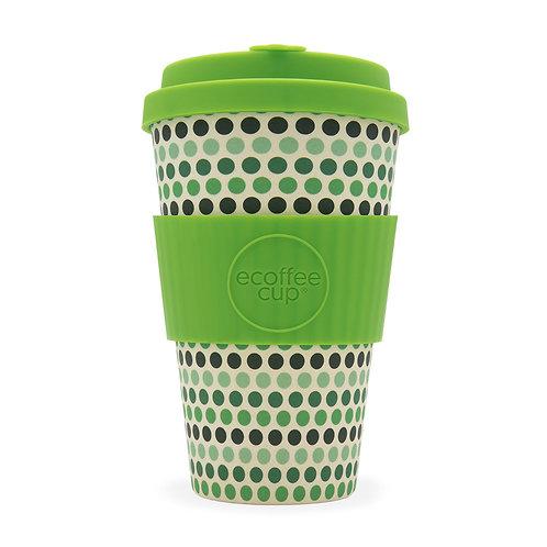 Green Polka Ecoffee Cup 14 oz (400 ml)