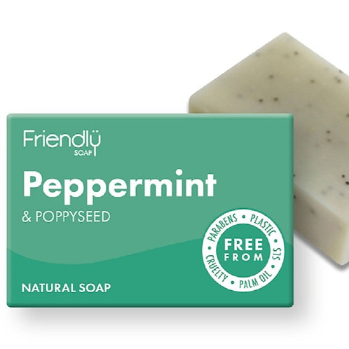 Peppermint & Poppyseed Soap Bar - 95g