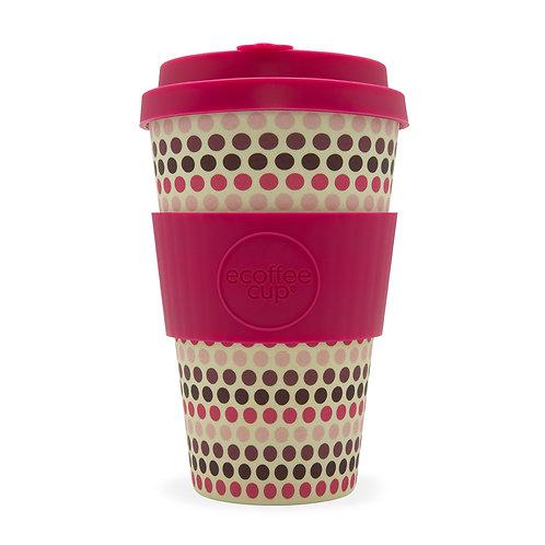 Pink Polka Ecoffee Cup 14 oz (400 ml)