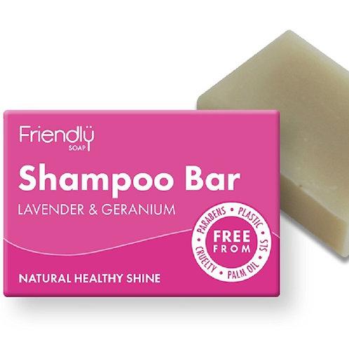 Lavender & Geranium Shampoo Bar 95g