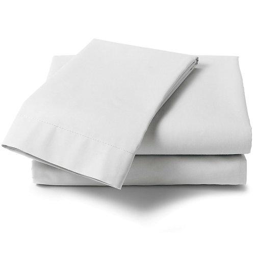 White 100% Organic Cotton Cot Sheet 70 x 140 cm