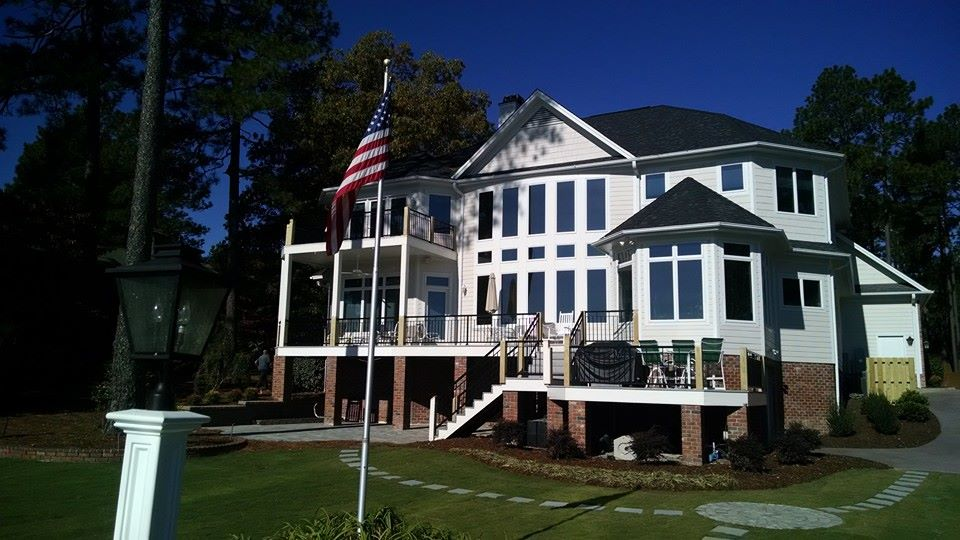 Lake House railing in Pinehurst, NC