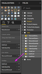 MS Power BI drag and drop example
