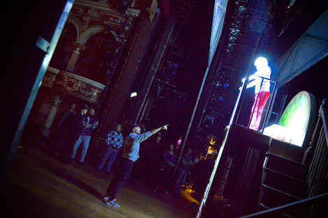 On stage at the Fulton Theatre