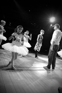 spacing Janet Dickenson and the ballet girls