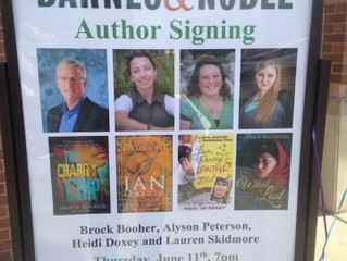 First Barnes and Noble Signing