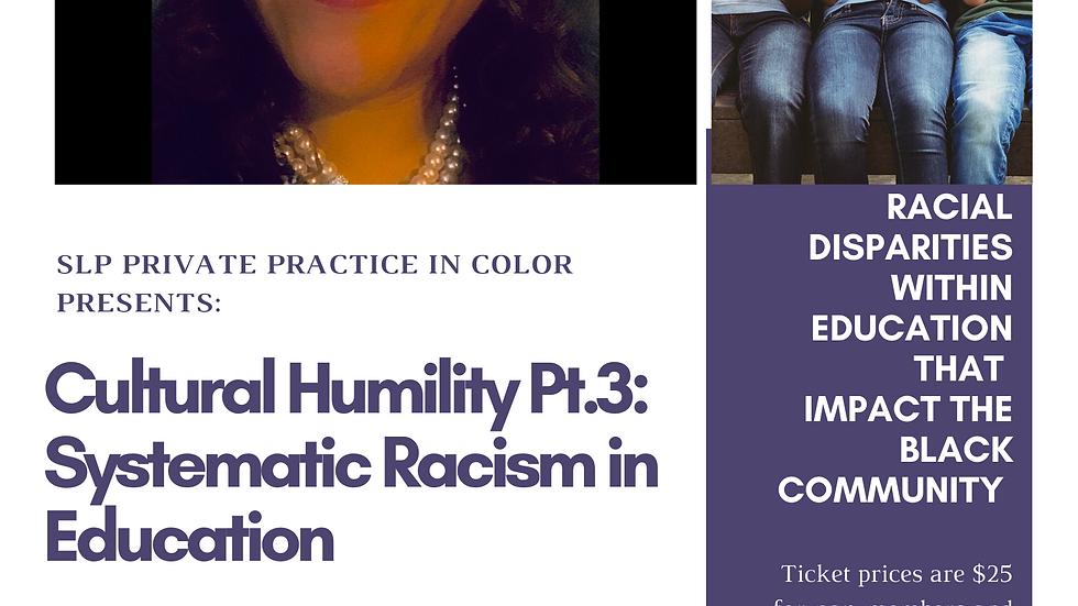 Cultural Humility Pt 3 On Demand