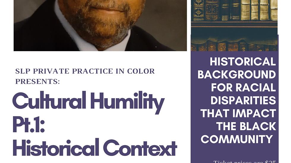 Cultural Humility Pt 1. On Demand