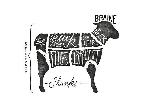 Meat map Lamb