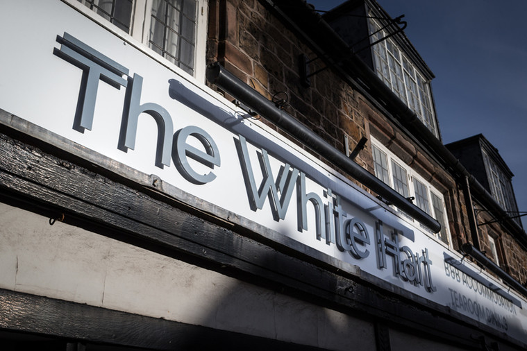 White Hart Stand-off Lettering