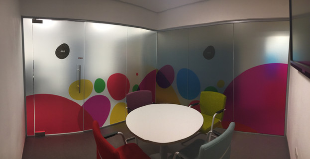 Printed Frosted Etch Window Vinyl