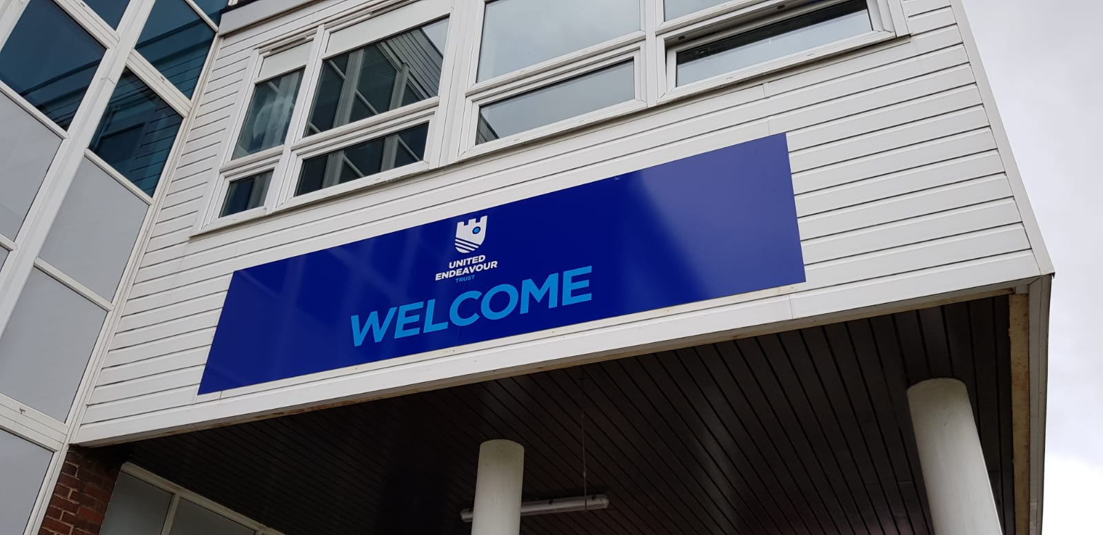 Welcome school signs