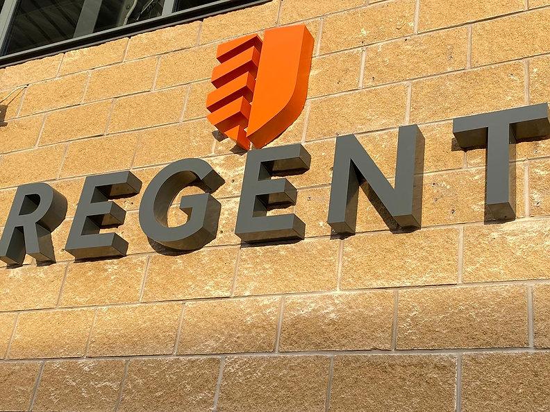 Regent built up letters