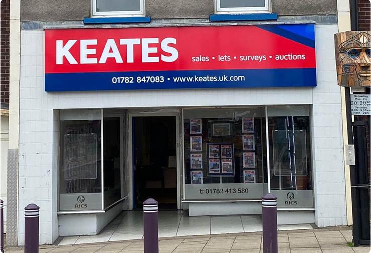 Keates Tray Sign