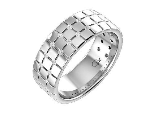 Men's Diamond Wedding Band- RP1113