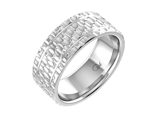 Hammered Men's Wedding Band - RP1315