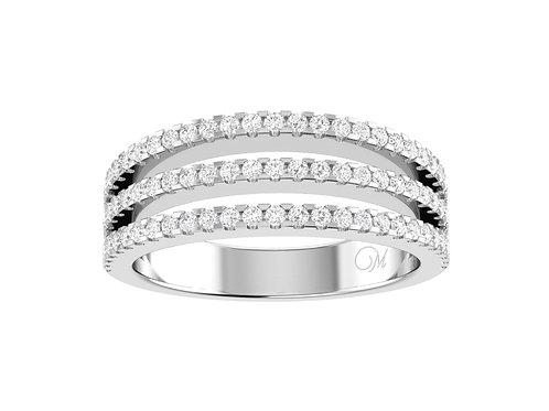 Three Row Diamond Band - RP0533