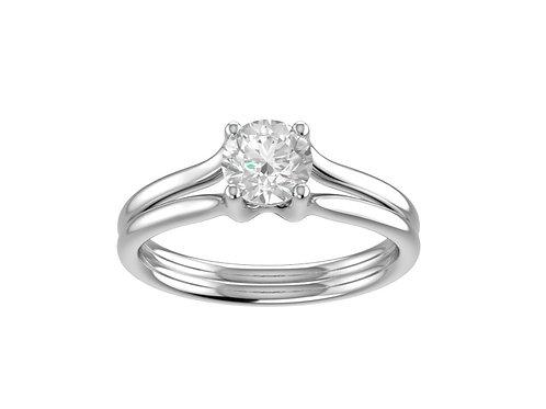 Split Shank Brilliant-Cut Diamond Ring - RP1365
