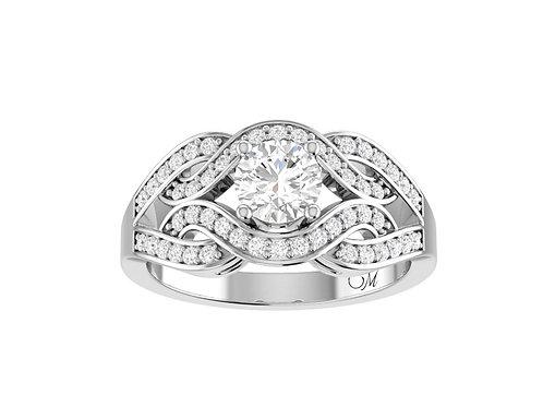 Fancy Intertwined Diamond Ring - RP1519