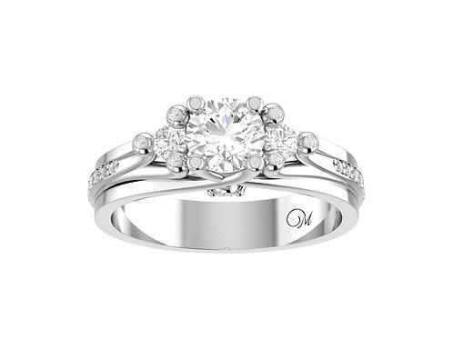Fancy Three Stone Diamond Ring - RP1729