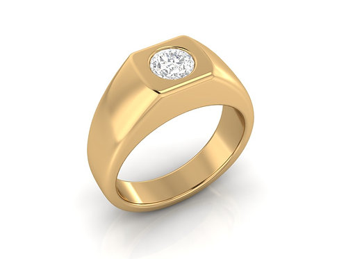 Men's Signet Diamond Ring - RP1208