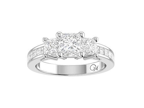 Three Stone Princess-Cut Diamond Ring - RP0220.01