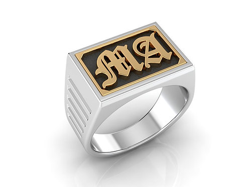 Men's Monogram Ring - RP0304