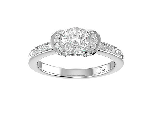 Wrapped Brilliant-Cut Diamond Ring - RP0802
