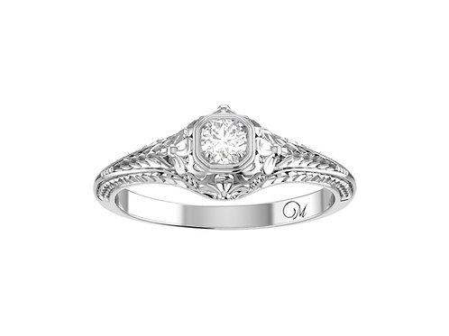 Petite Fancy Brilliant-Cut Diamond Ring - RP0587