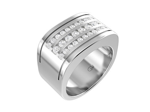 Men's Diamond Wedding Band - RP0473