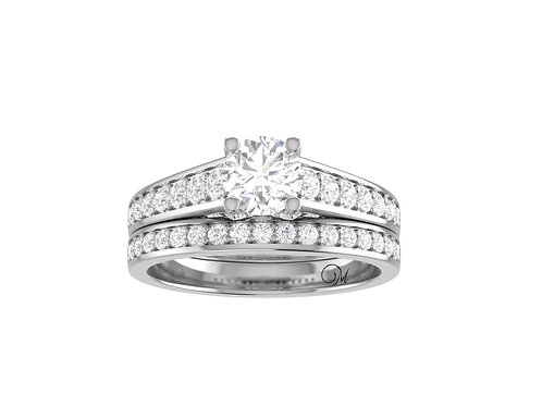 Brilliant-Cut Diamond Bridal Set - RP1936