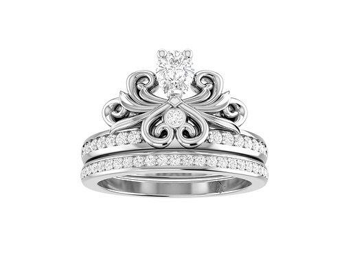 Glorious Pear-Cut Diamond Bridal Set - RP1730