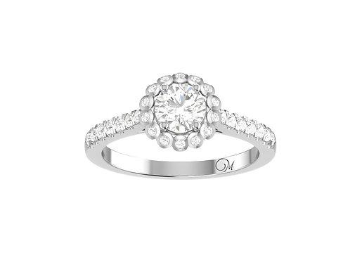 Halo Brilliant-Cut Diamond Ring - RP1738