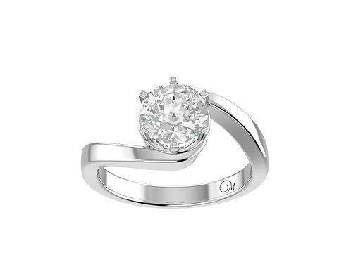 Twisted Brilliant-Cut Diamond Ring - RP0157